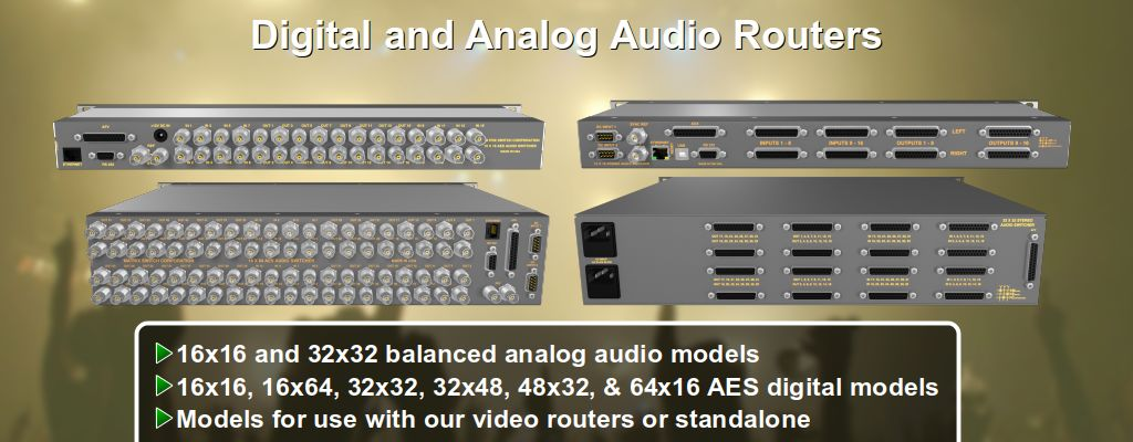 Digital and Analog Audio Routers
