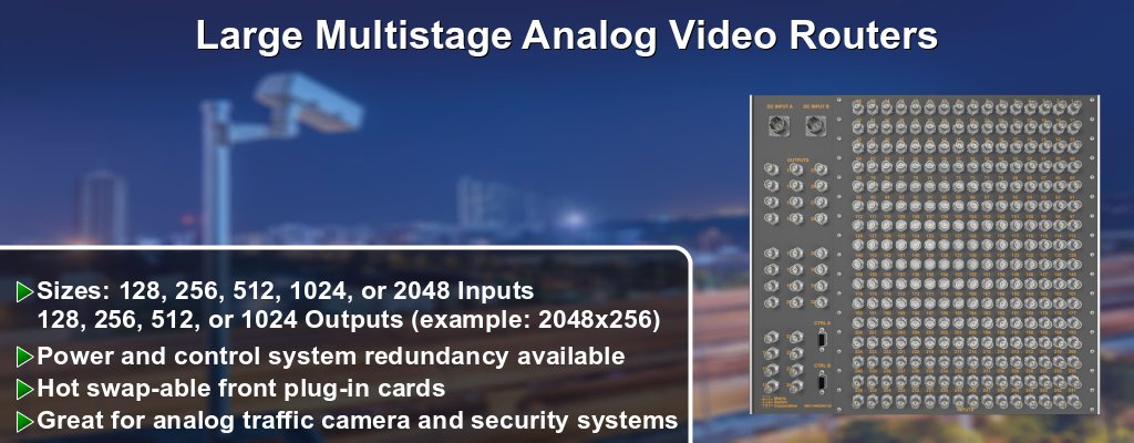 Multistage Analog Video Routers
